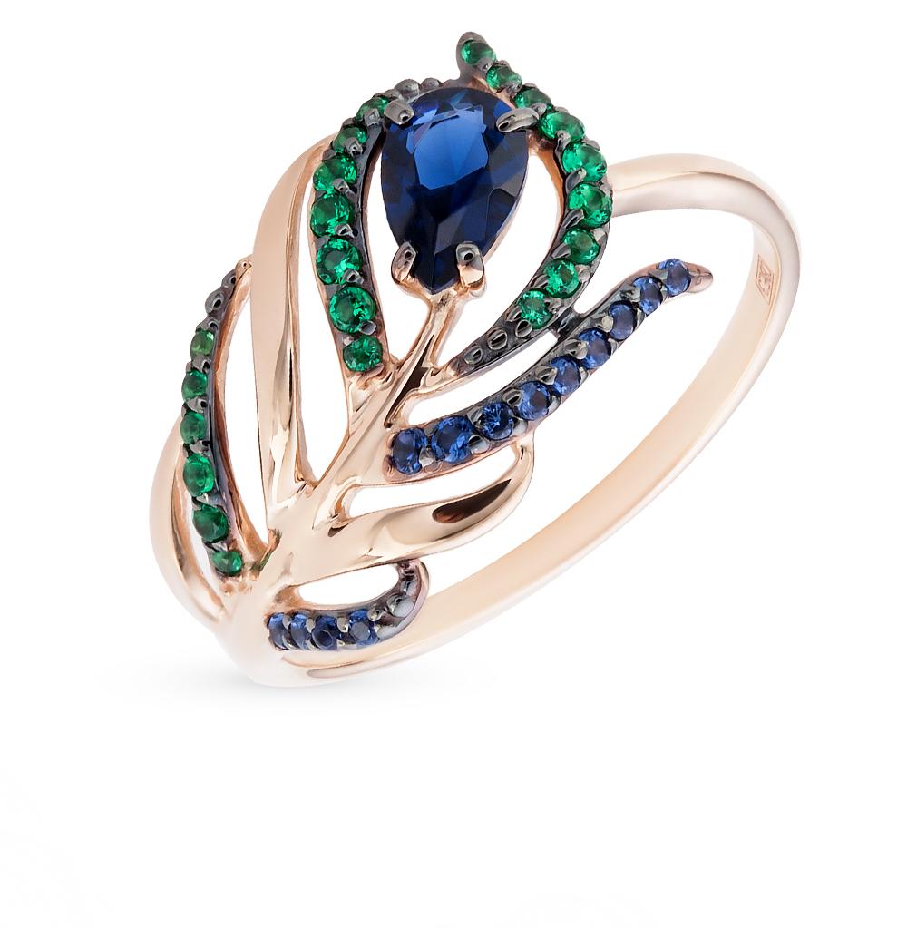 золотое кольцо с фианитами SOKOLOV 017080*
