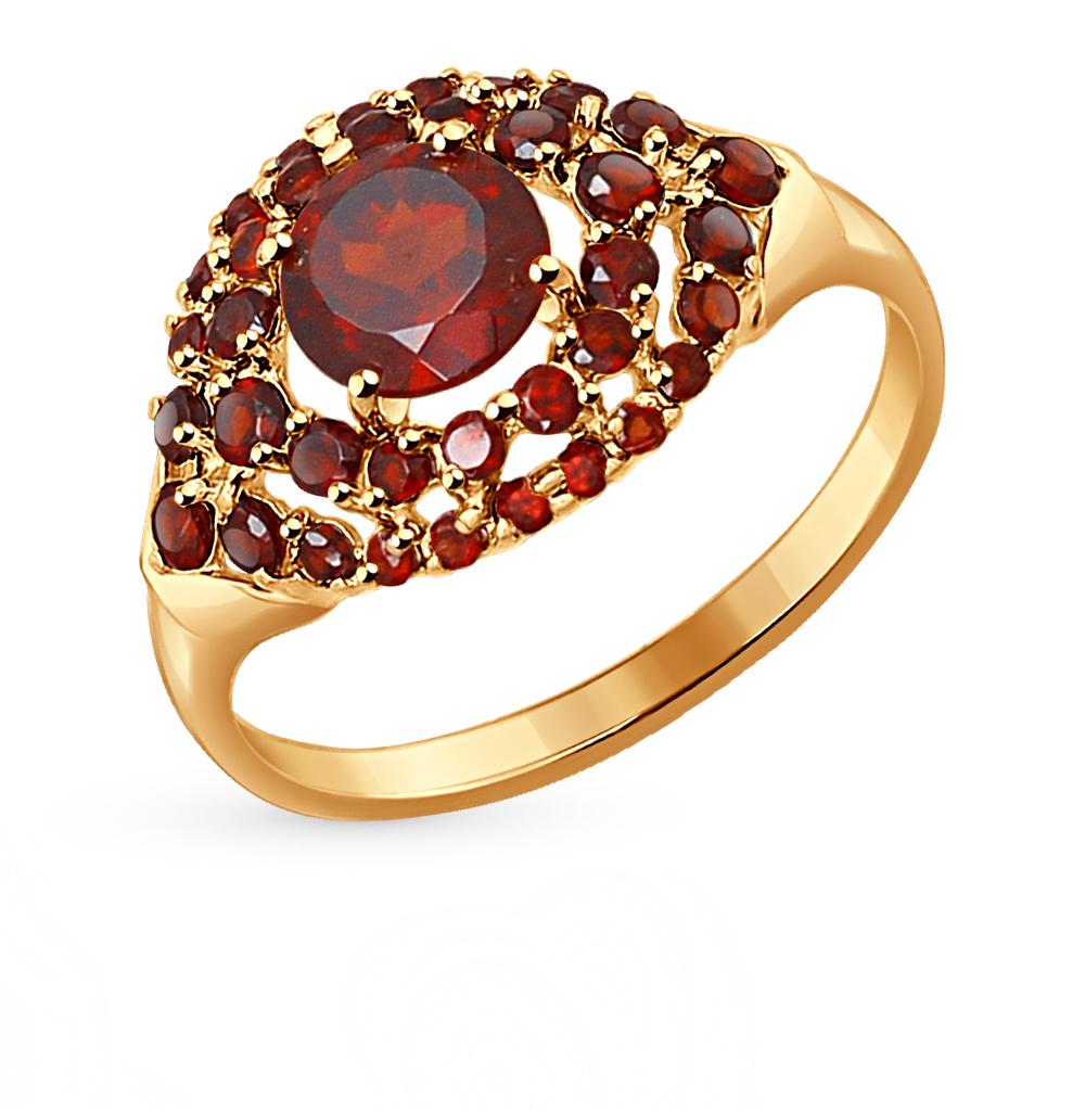 золотое кольцо с гранатом SOKOLOV 714274*