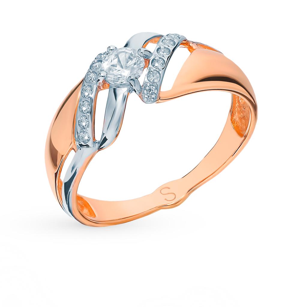 золотое кольцо с фианитами SOKOLOV 017771*