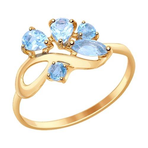 Фото «Золотое кольцо с топазами SOKOLOV 714608*»