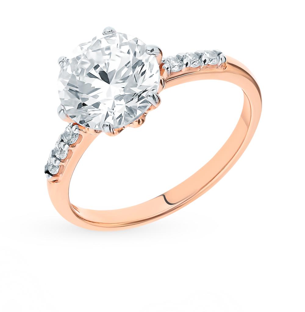 серебряное кольцо с фианитами SOKOLOV 89010083