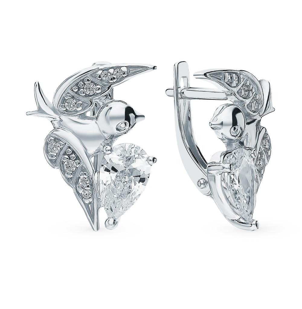 серебряные серьги с фианитами SOKOLOV 94023311