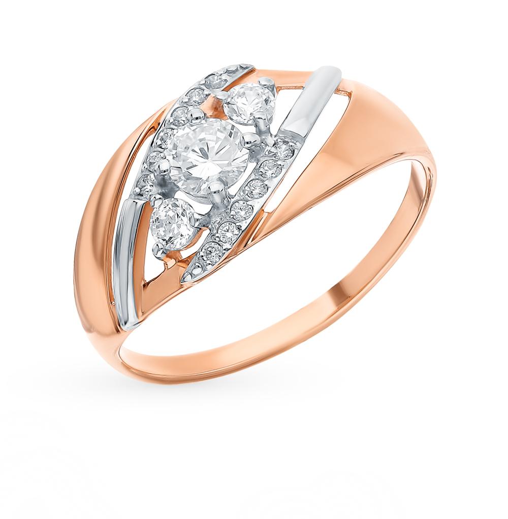 Золотое кольцо с фианитами SOKOLOV 018052* в Санкт-Петербурге