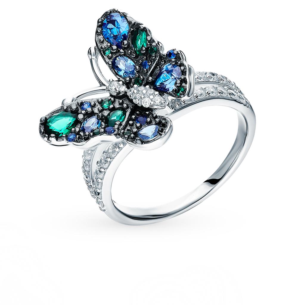 Серебряное кольцо со шпинелью и фианитами в Санкт-Петербурге