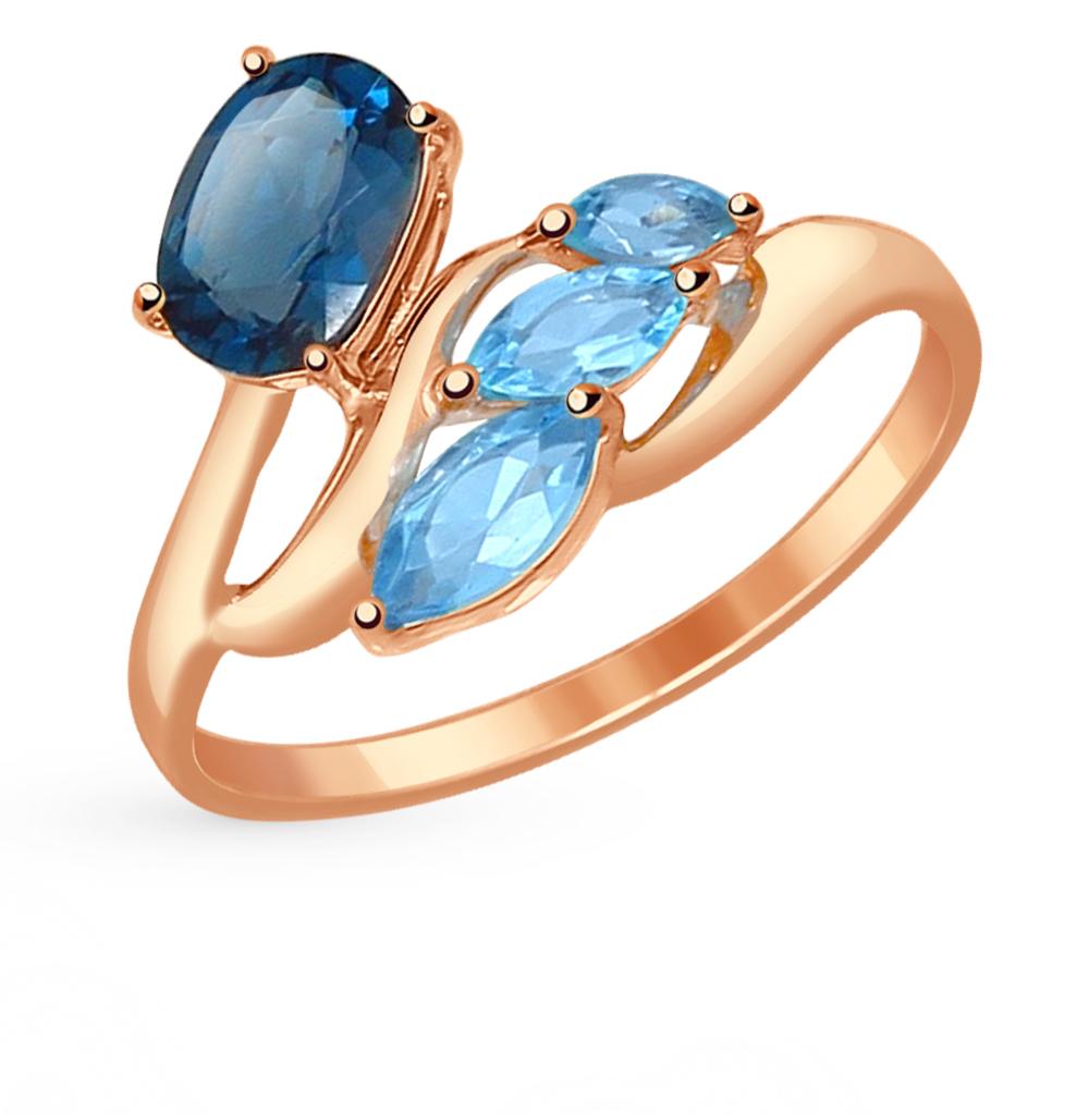 золотое кольцо с топазами SOKOLOV 714533*