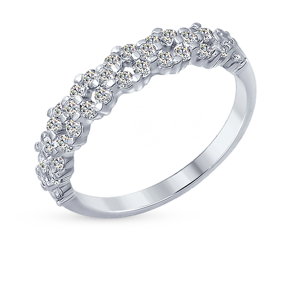 серебряное кольцо с фианитами SOKOLOV 94012254