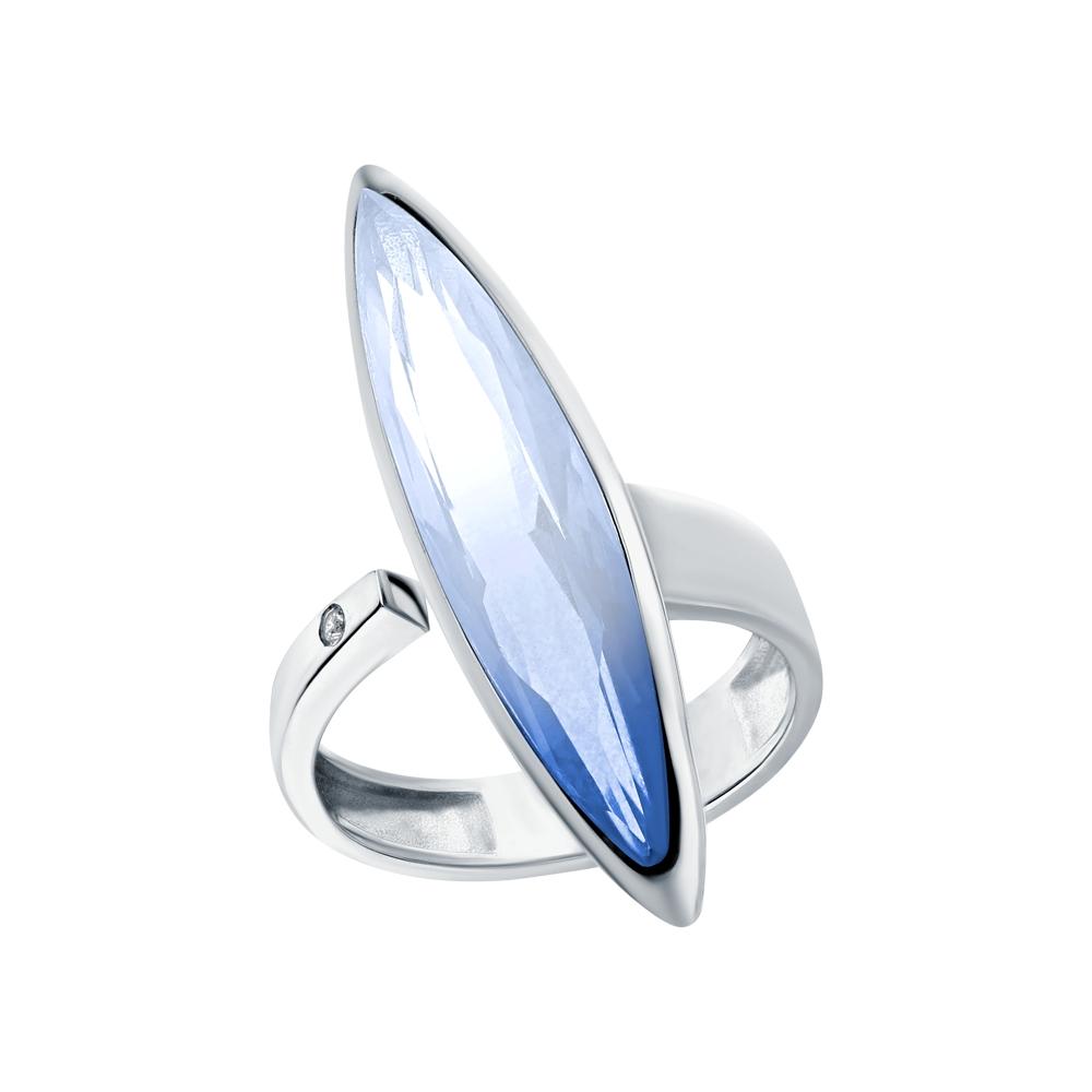 Серебряное кольцо с ситаллами и кубическими циркониями в Екатеринбурге