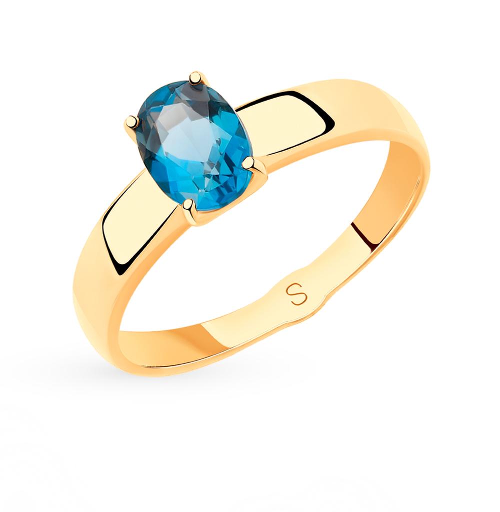 Фото «Золотое кольцо с топазами SOKOLOV 715473*»