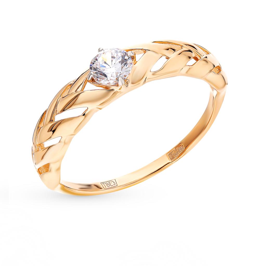золотое кольцо с фианитами SOKOLOV 017549*