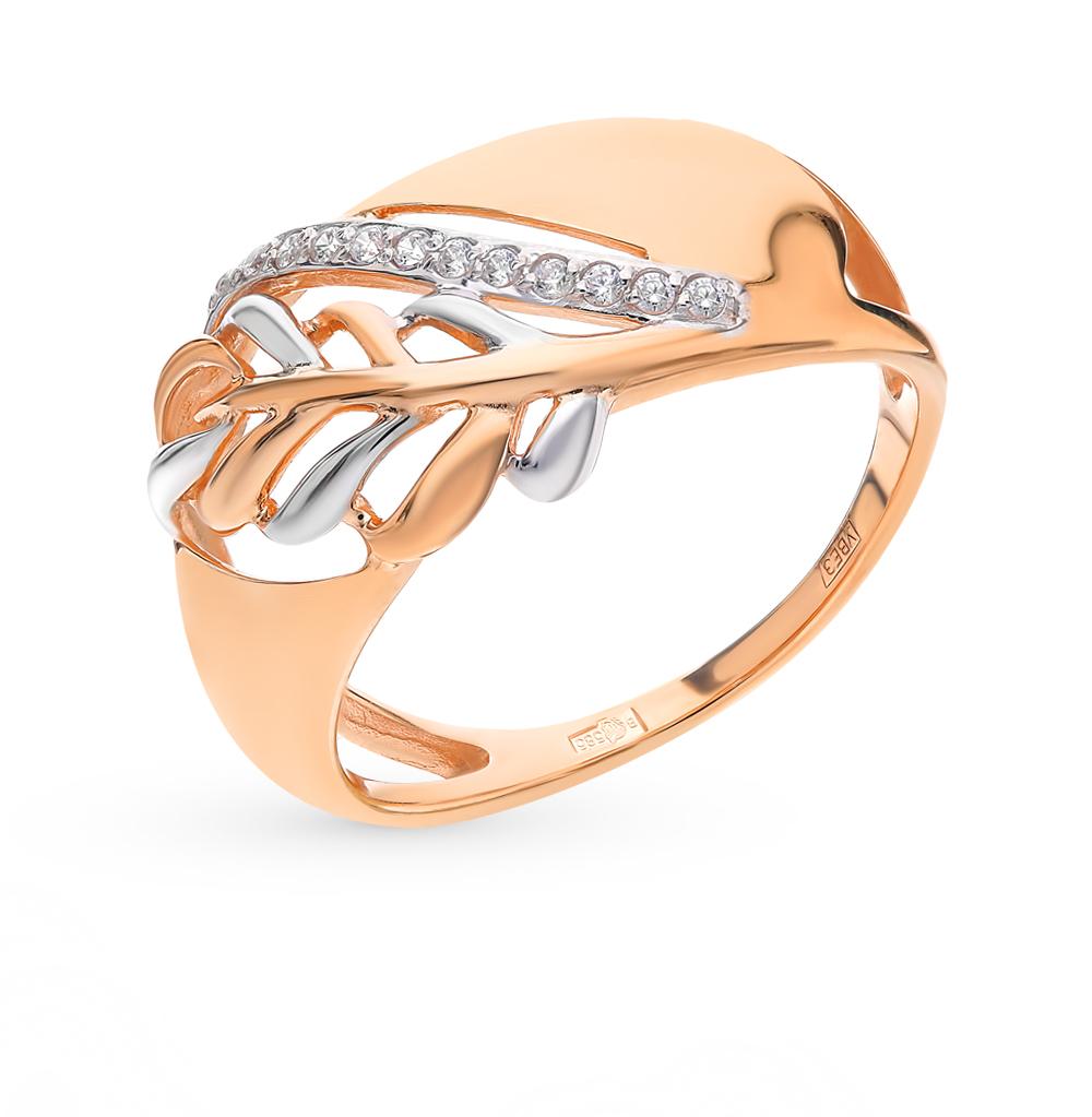 золотое кольцо с фианитами SOKOLOV 017665*