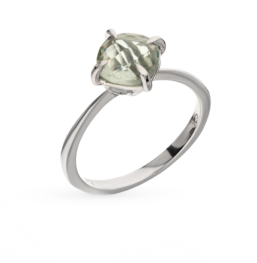 Фото «серебряное кольцо с аметистами синтетическими»