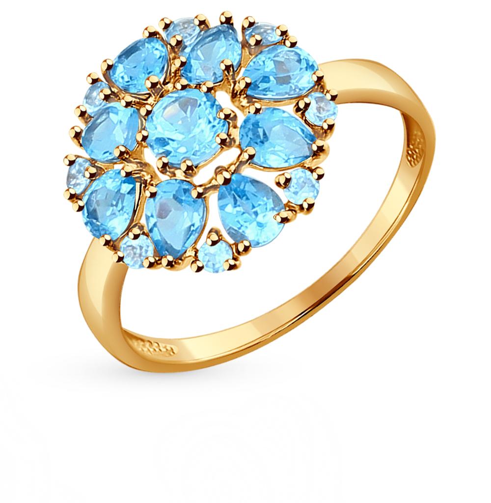золотое кольцо с топазами SOKOLOV 714280*