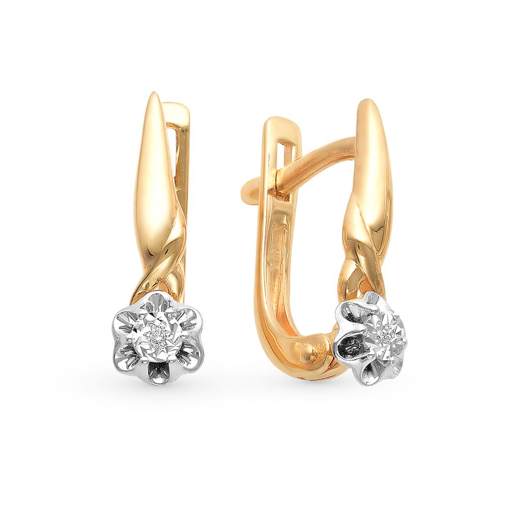 Фото «золото серьги с бриллиантами»