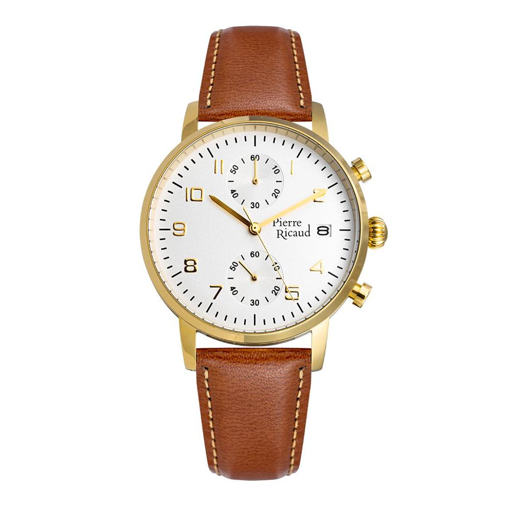 Фото «Мужские часы P91088.1223CH на кожаном ремешке с минеральным стеклом»