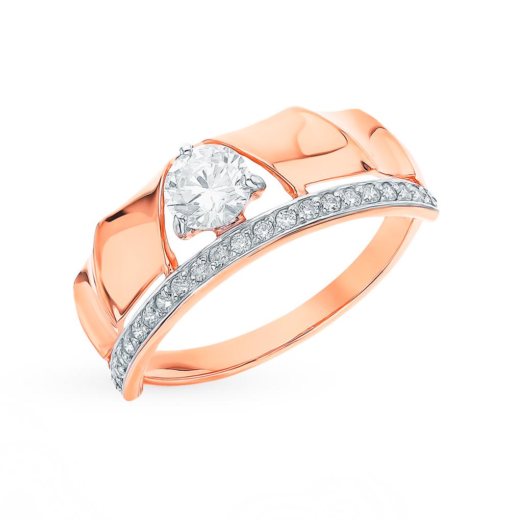 Золотое кольцо с фианитами SOKOLOV 018302* в Екатеринбурге