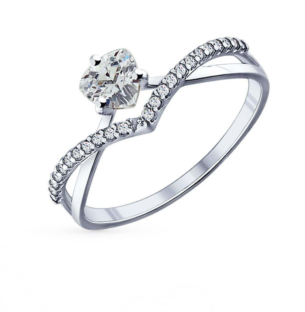 Фото «Серебряное кольцо с фианитами SOKOLOV 94011750»