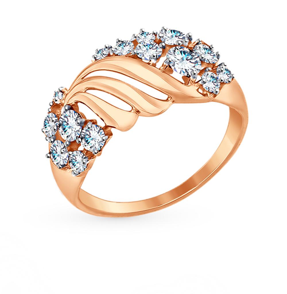 Золотое кольцо с фианитами SOKOLOV 017404* в Екатеринбурге