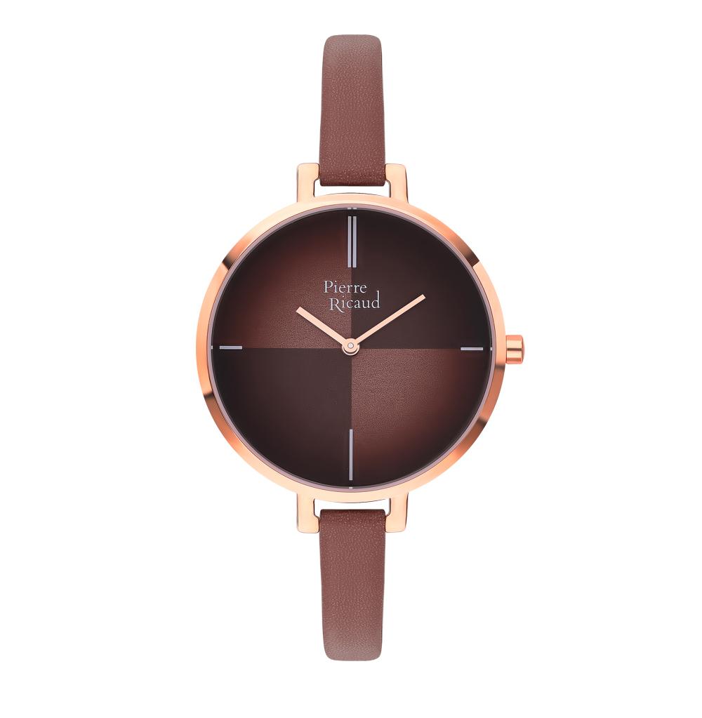 Фото «Женские часы P22040.9B1GQ на кожаном ремешке с минеральным стеклом»
