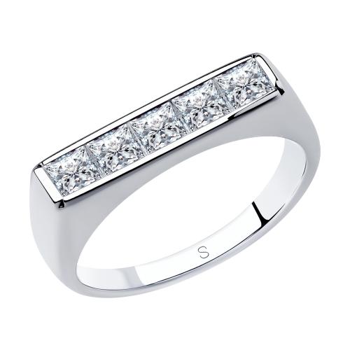 Серебряное кольцо с фианитами SOKOLOV 94013103 в Екатеринбурге