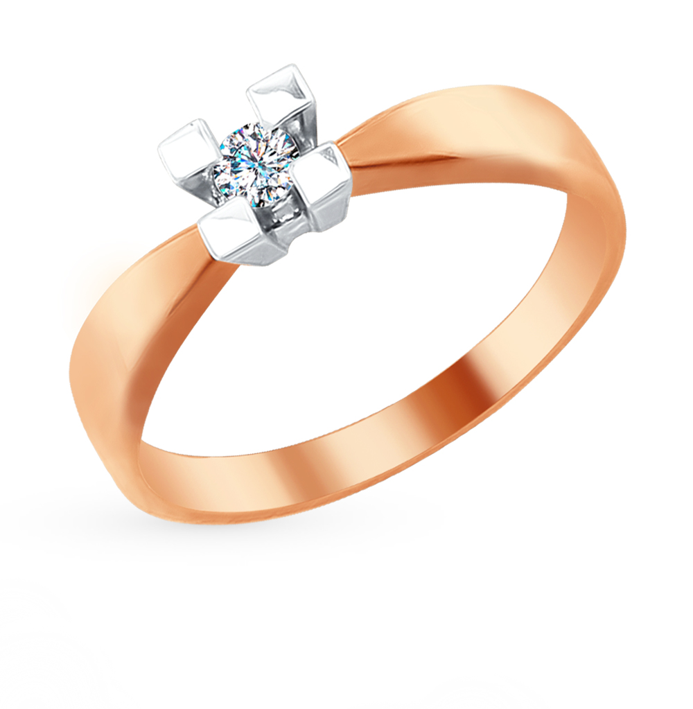 Фото «Золотое кольцо с бриллиантами SOKOLOV 1011662»