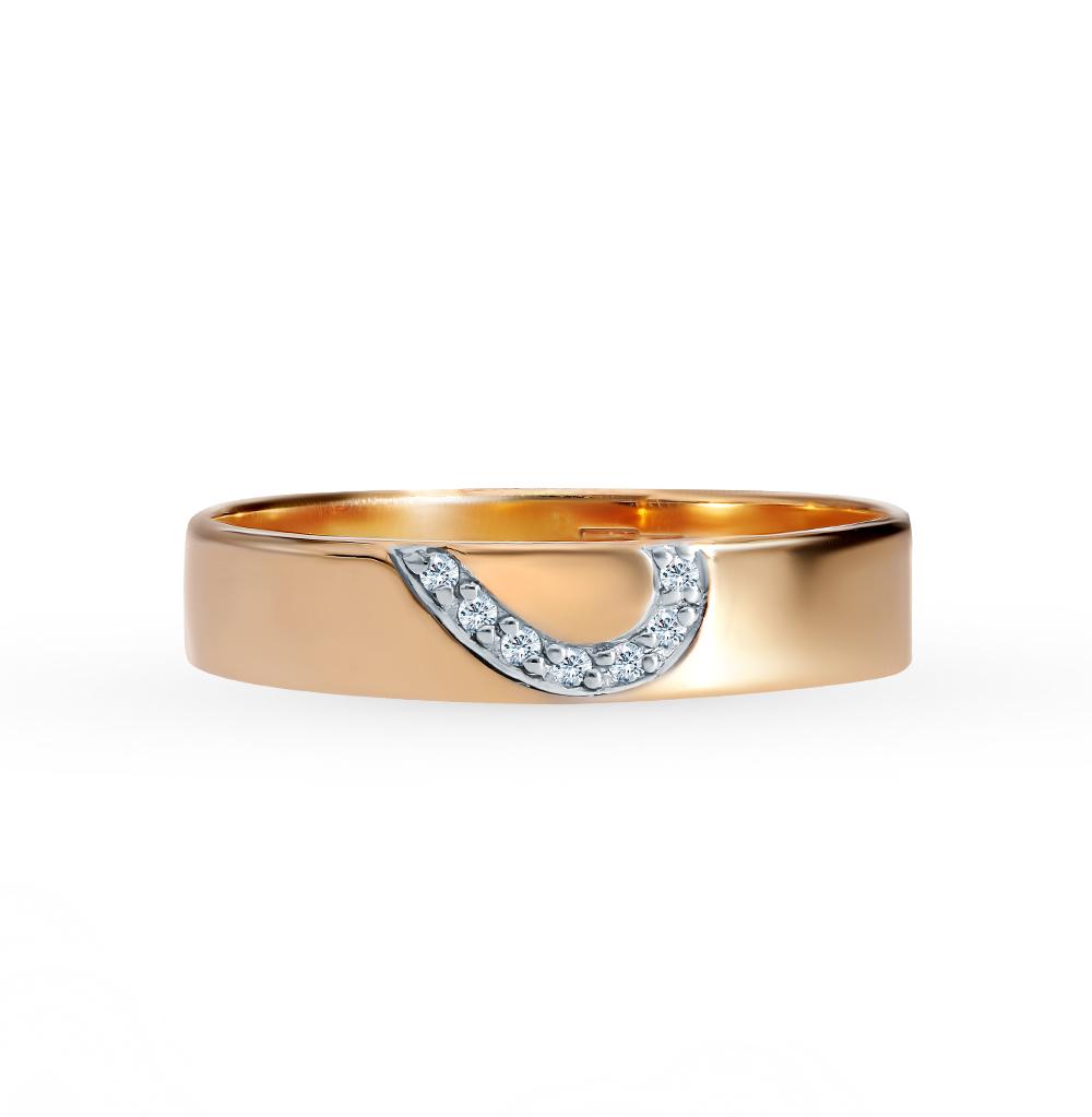 Золотое кольцо с бриллиантами EFREMOV К1317907   красное и розовое золото  585 пробы, бриллиант — купить в интернет-магазине SUNLIGHT, фото, артикул  63080 99c53ad1ab6