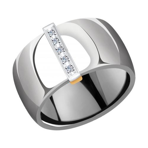 Фото «Золотое кольцо с бриллиантами SOKOLOV 6015079»