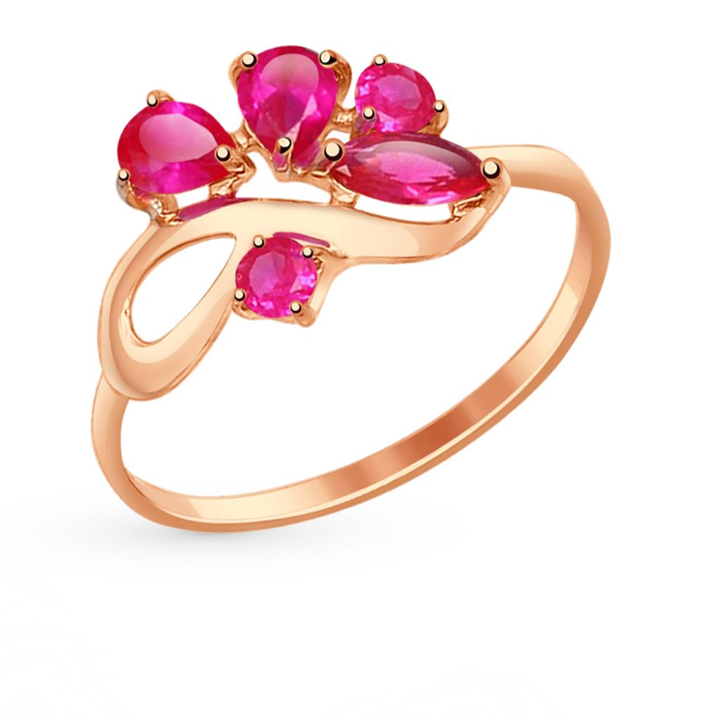 золотое кольцо с корундом SOKOLOV 714612*