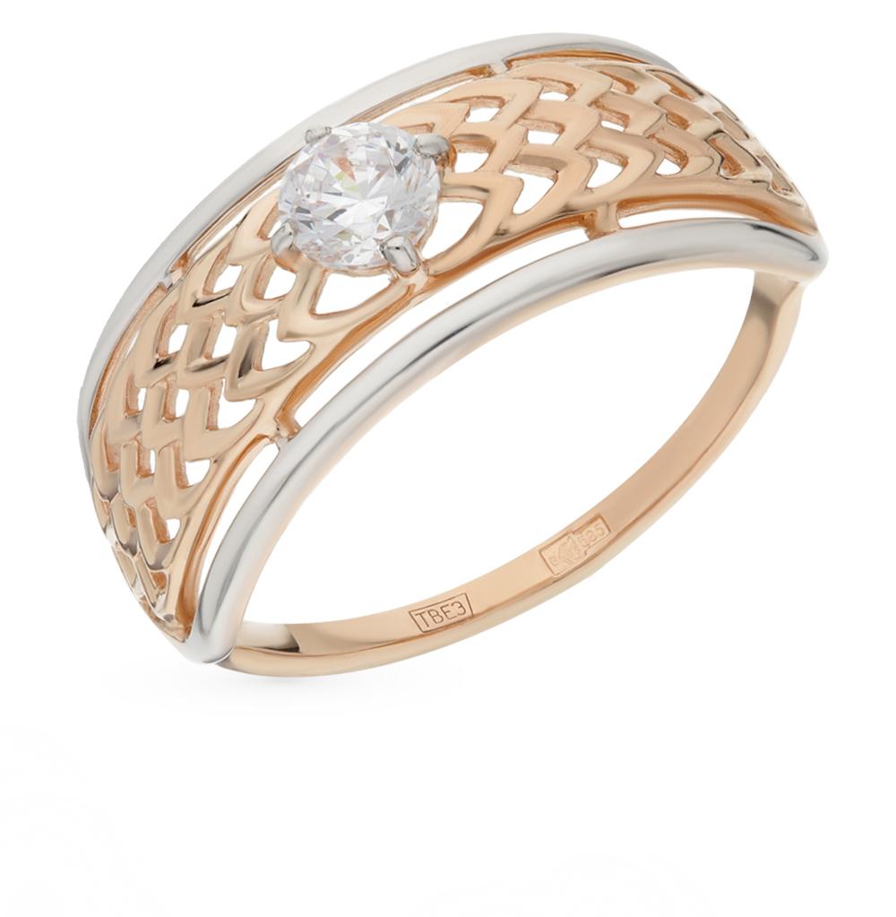 Фото «Золотое кольцо с фианитами SOKOLOV 017484*»