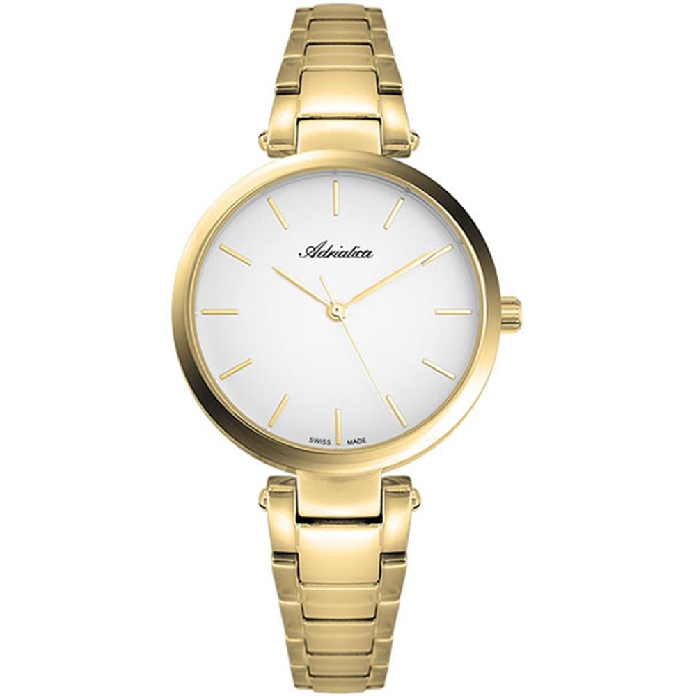Женские часы A3773.1113QS на стальном браслете с PVD покрытием с минеральным стеклом