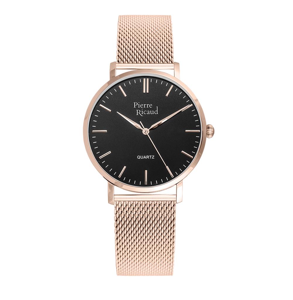 Женские часы P51082.9114Q на стальном браслете с розовым PVD покрытием с минеральным стеклом