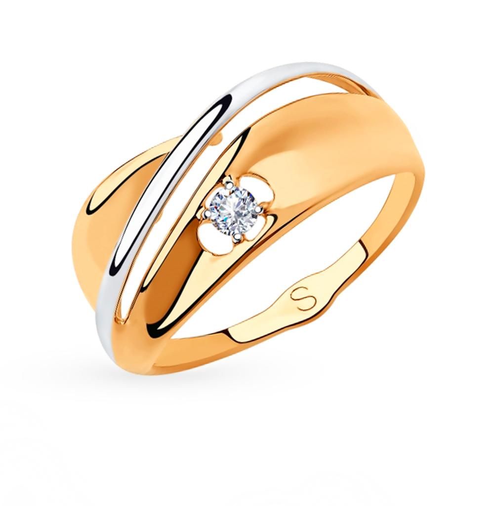 Фото «Золотое кольцо с фианитами SOKOLOV 018222»