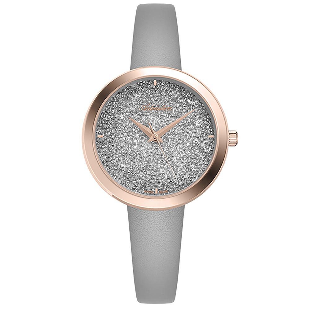 Фото «Женские часы A3646.9213Q на кожаном ремешке с минеральным стеклом»