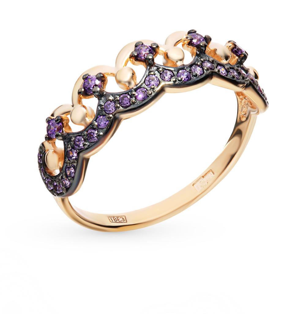 золотое кольцо с фианитами SOKOLOV 017566*