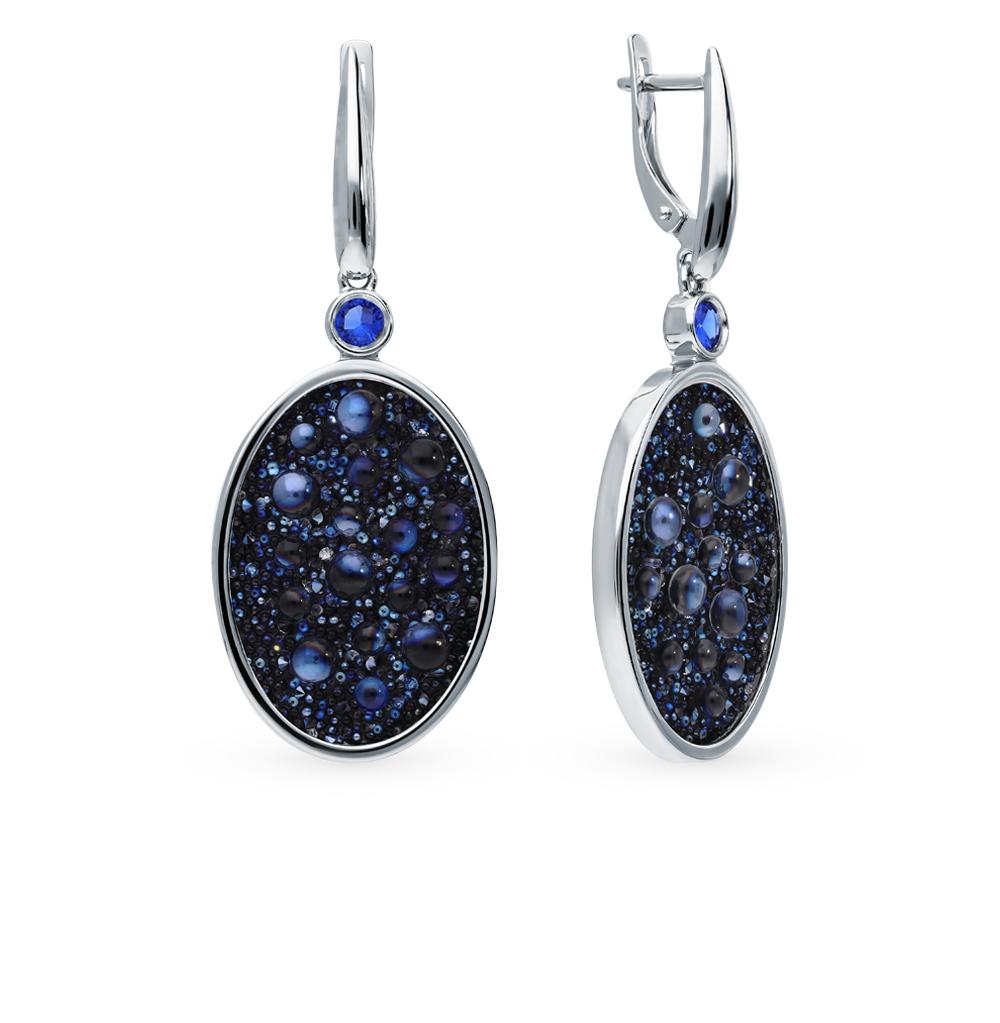 Серебряные серьги с кристаллами SOKOLOV 94023683 в Екатеринбурге