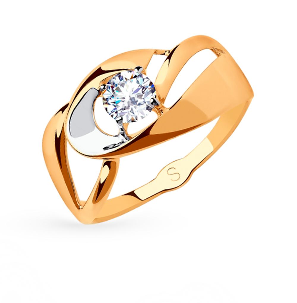 Фото «Золотое кольцо с фианитами SOKOLOV 018213»