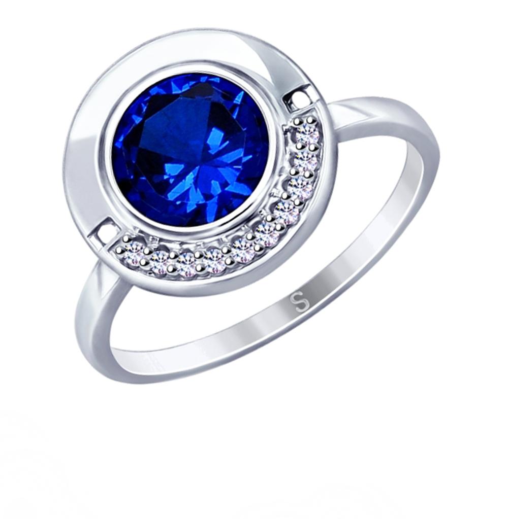 серебряное кольцо с фианитами SOKOLOV 94012905