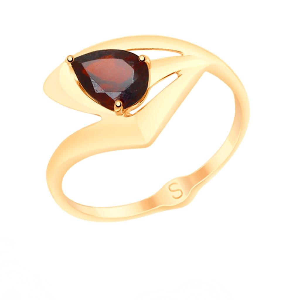Золотое кольцо с гранатом SOKOLOV 715116 в Санкт-Петербурге