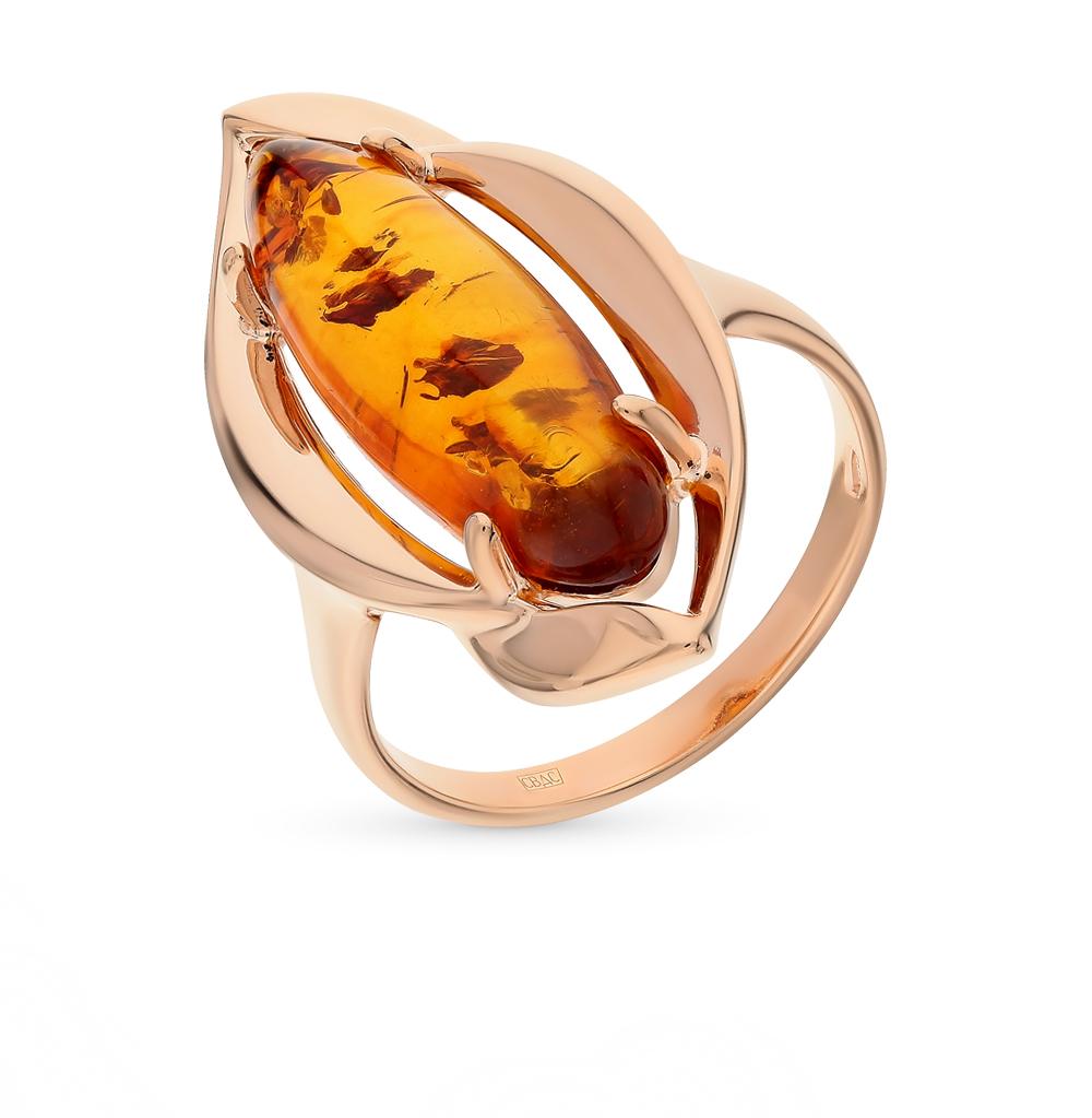 серебряное кольцо с янтарем SOKOLOV 83010038