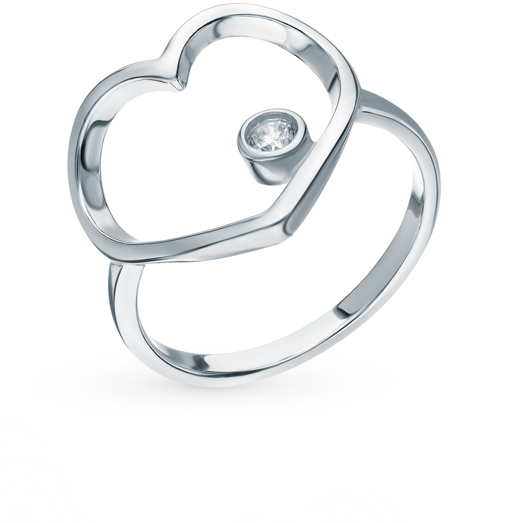 серебряное кольцо с фианитами SOKOLOV 94012790
