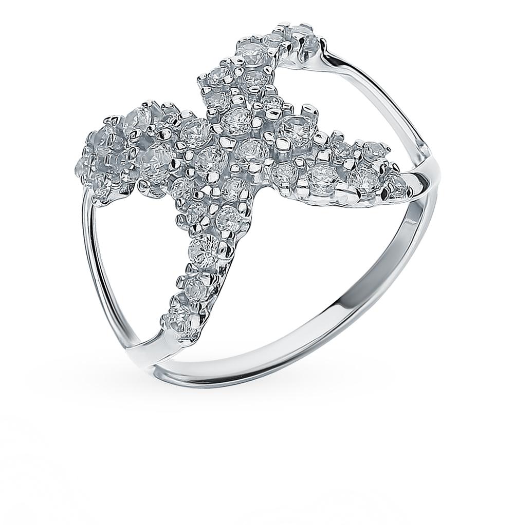 серебряное кольцо с фианитами SOKOLOV 94013037