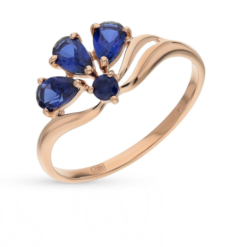 золотое кольцо с корундом SOKOLOV 714595*