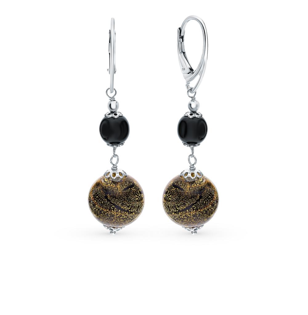 Фото «Серебряные серьги с муранскими стёклами»