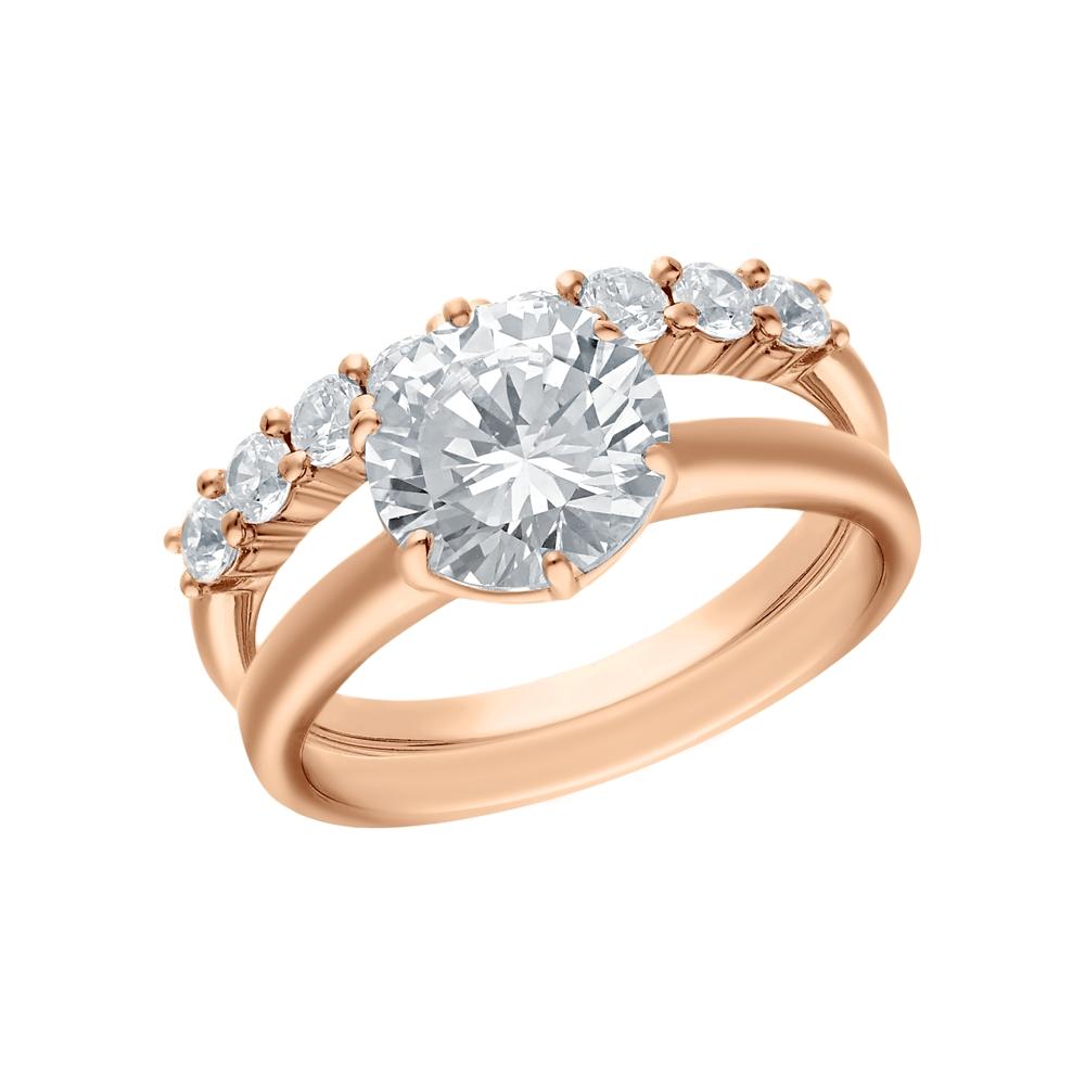 Фото «Серебряное кольцо с цирконием, ситаллами и кубическим цирконием»