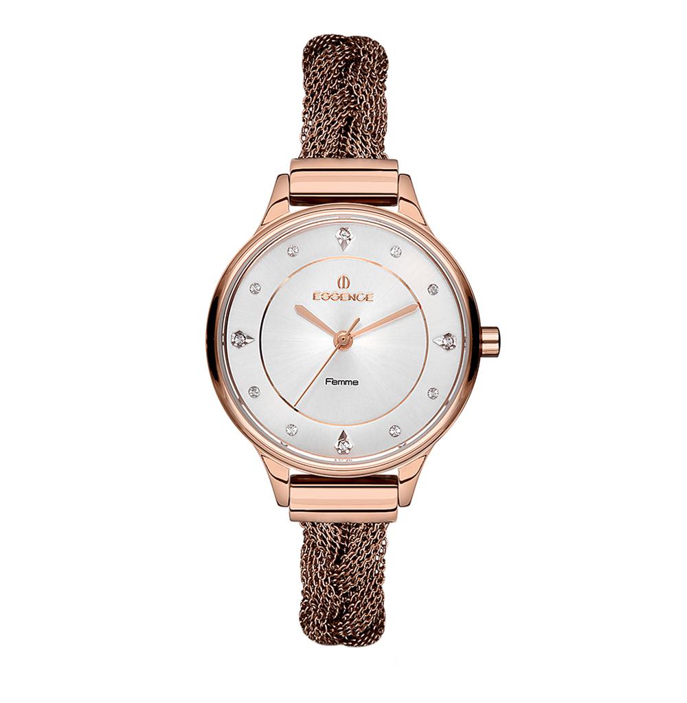 Женские часы D1064.430 на стальном браслете с розовым PVD покрытием с минеральным стеклом