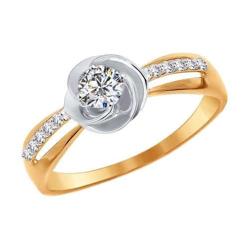 Золотое кольцо с фианитами SOKOLOV 016959* в Санкт-Петербурге