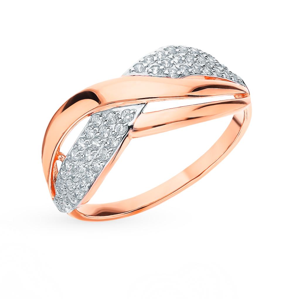 золотое кольцо с фианитами SOKOLOV 51-110-00300-1*