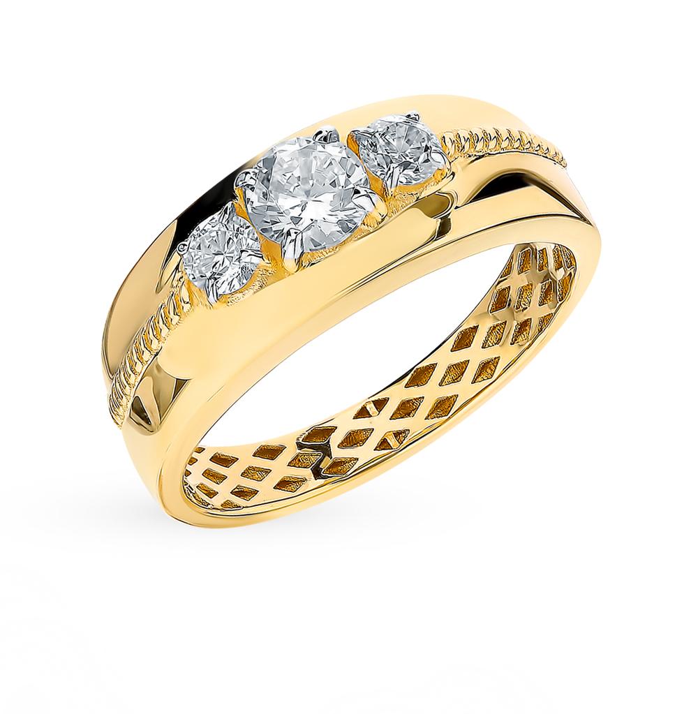 Золотое кольцо с фианитами SOKOLOV 018262-2* в Екатеринбурге