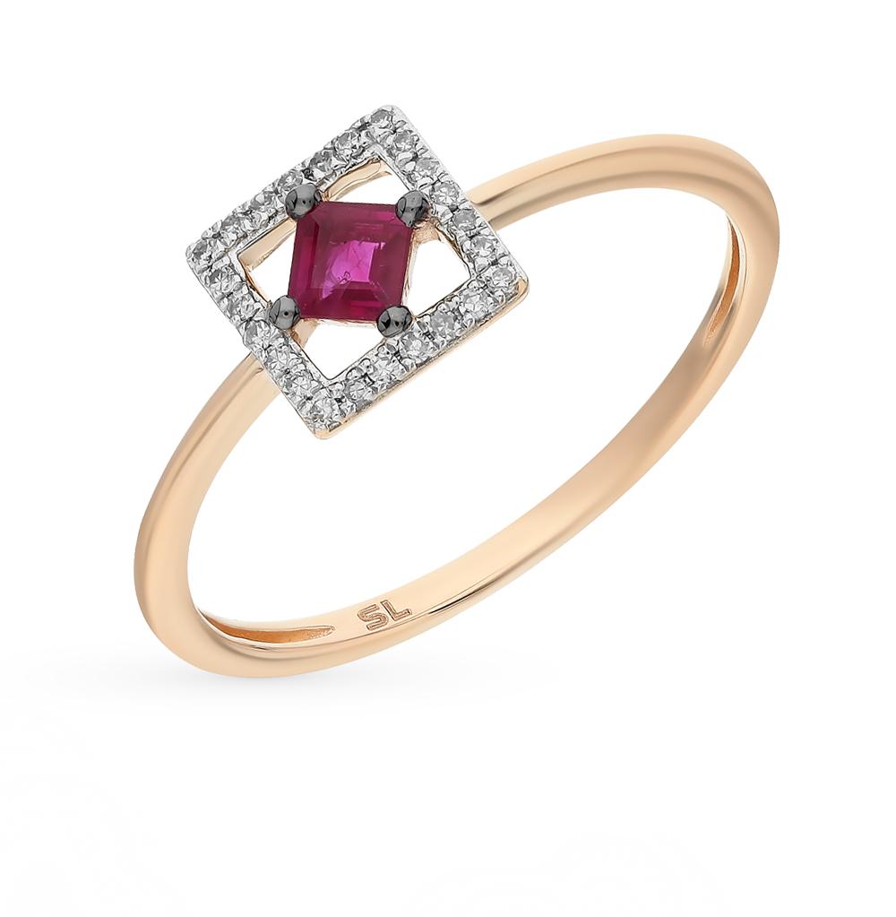 Фото «кольцо с рубинами и бриллиантами»