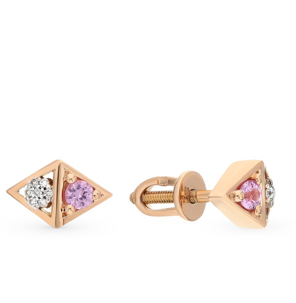 Фото «золото серьги с сапфирами и бриллиантами»