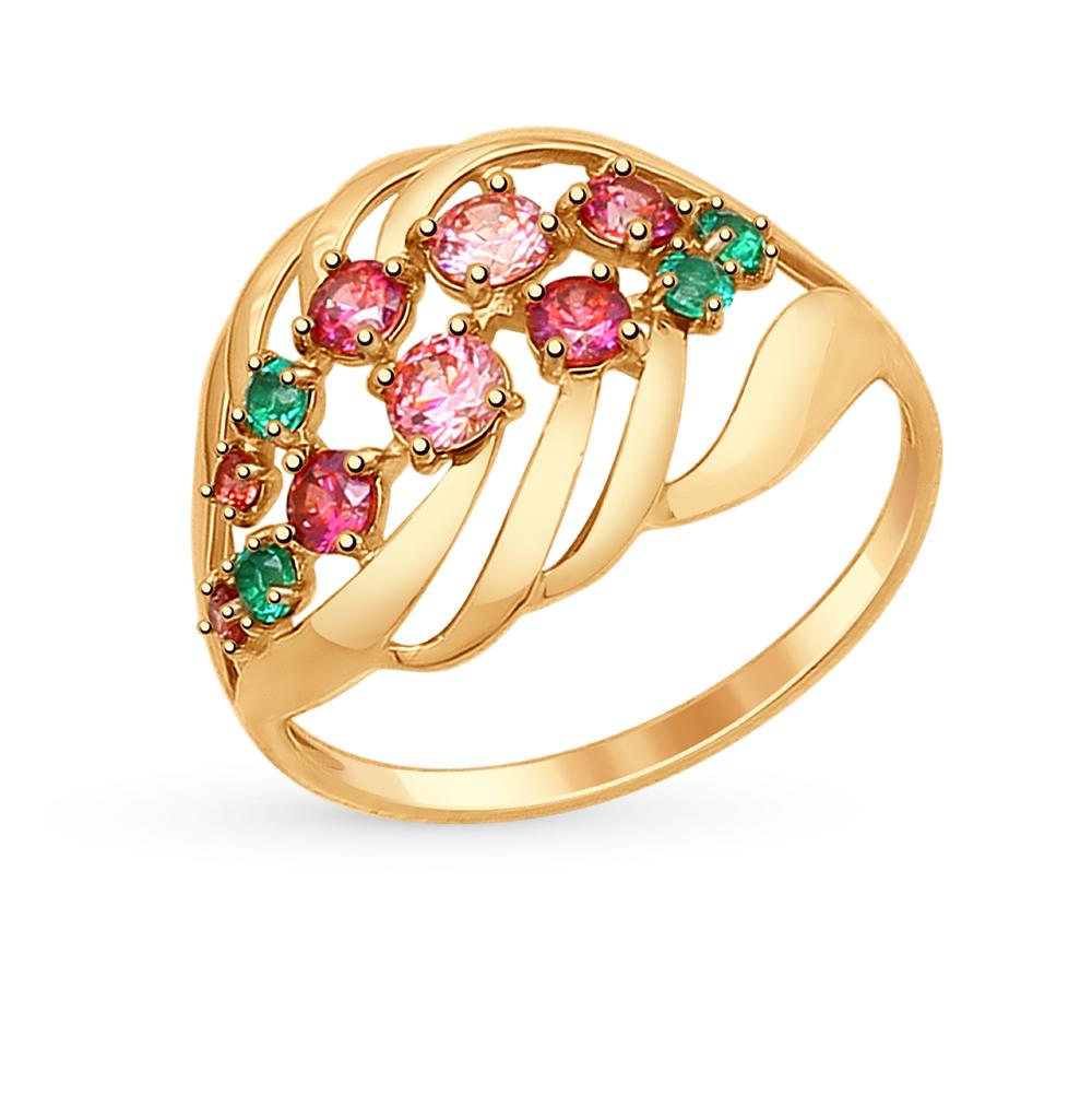 Золотое кольцо с фианитами SOKOLOV 017318* в Екатеринбурге